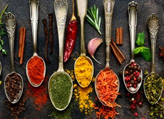 Spices in a spoon